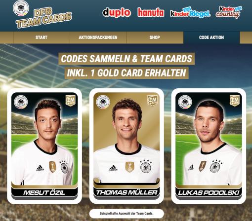 Kinder DFB Team Cards