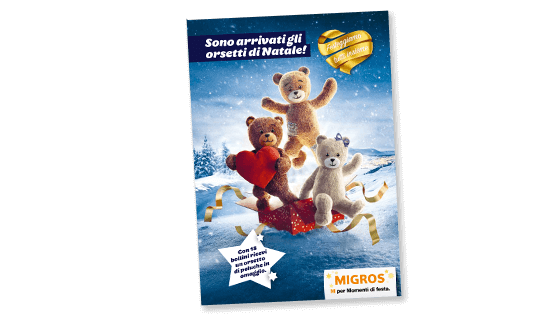 Migros teddy bears folder